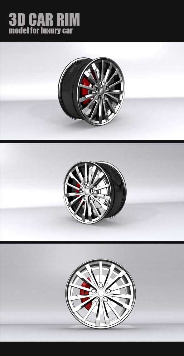 Luxury car RIM model - 3DOcean Item for Sale
