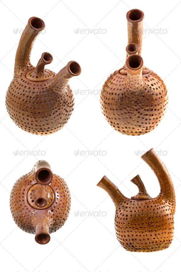 brown ceramic teapot - Stock Photo - Images