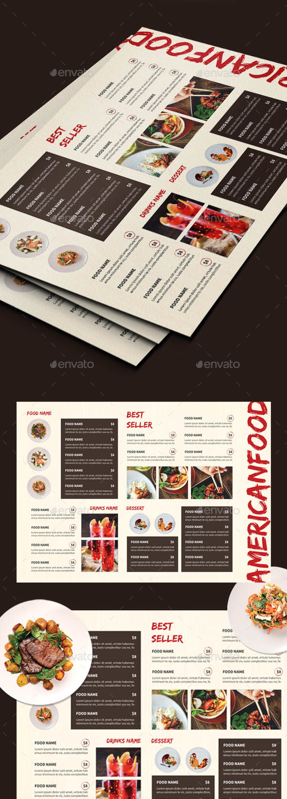 Vintage Food Menus - Food Menus Print Templates