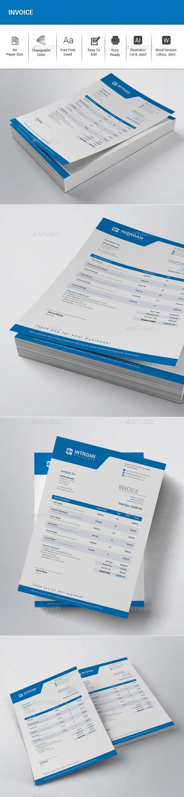 GraphicRiver Invoice 20308588