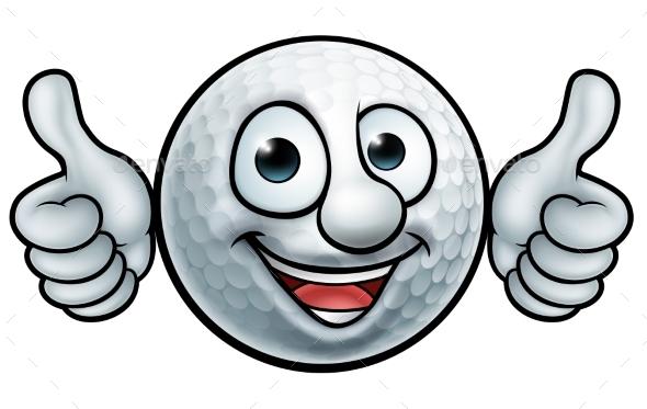 Golf Ball Mascot - Sports/Activity Conceptual