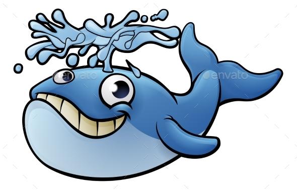 GraphicRiver Cartoon Whale 20308791