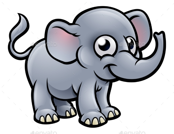 GraphicRiver Elephant Cartoon Character 20308795