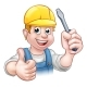 Handyman Electrician With Screwdriver