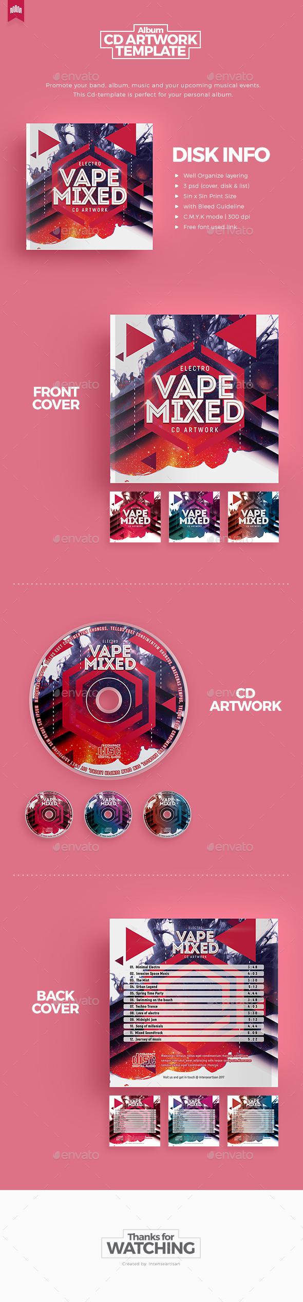 Vape Mixed - Cd Artwork - CD & DVD Artwork Print Templates