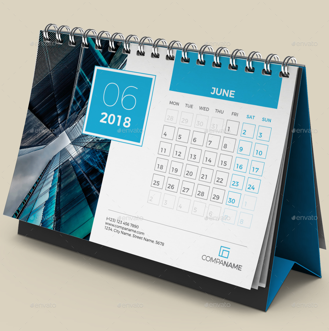 Desk calendar 2018 by bourjart graphicriver for Table 999b 2018