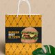 Shopping Bag Design Template for Fast Food / Restaurants / Cafe