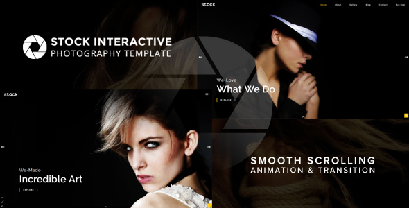 Stock | Interactive Photography Template - Photography Creative