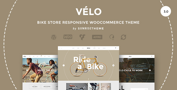 Velo - Bike Store Responsive Business Theme - WooCommerce eCommerce