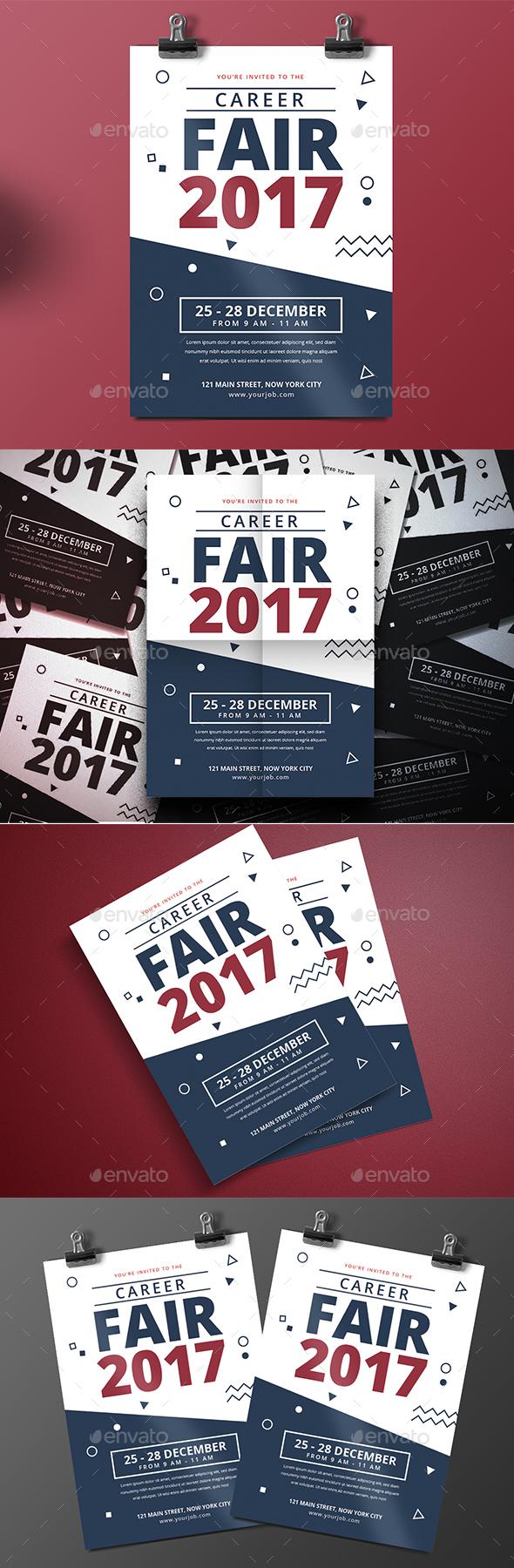 Career Fair Flyer - Corporate Business Cards