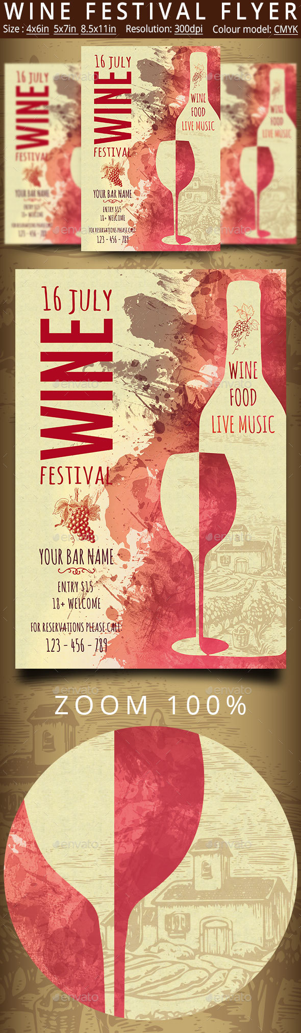Wine Festival Flyer Vintage - Events Flyers