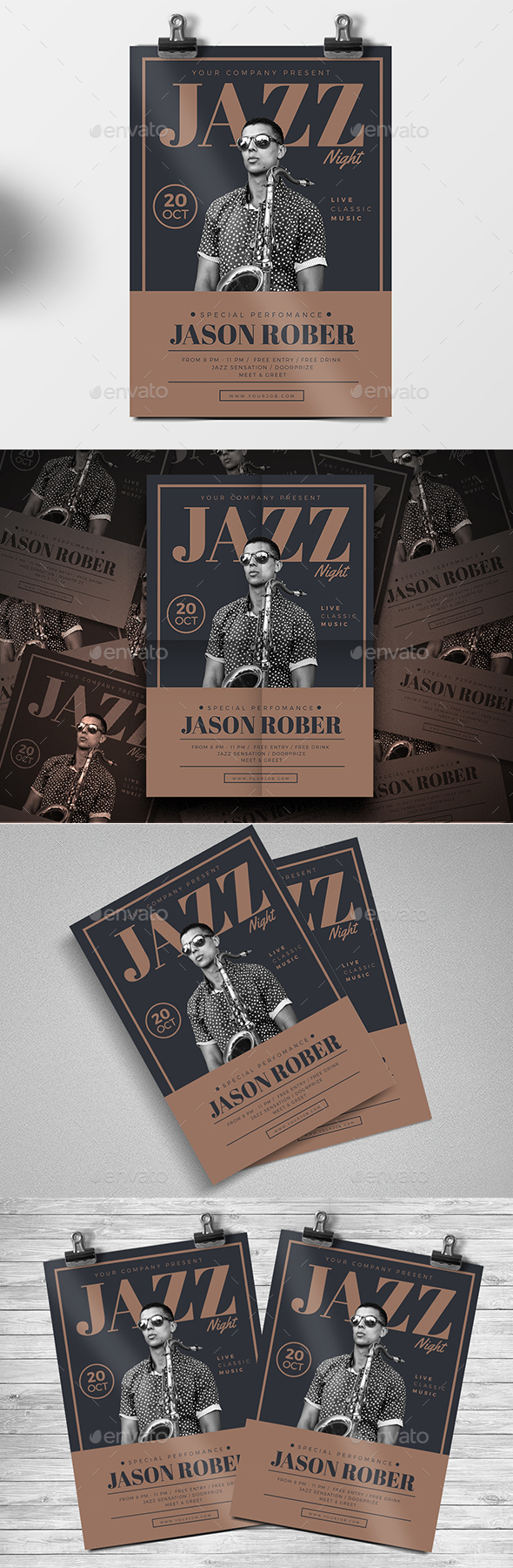 Jazz Night Flyer - Events Flyers