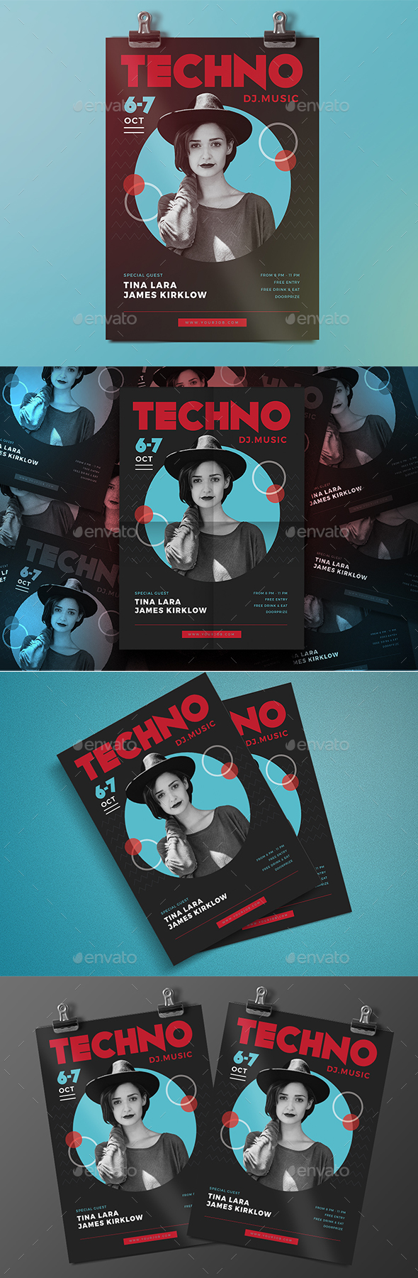 Electro Techno Flyer - Events Flyers
