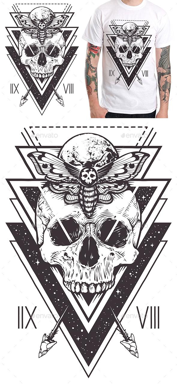 Skull Sacred Design II - Designs T-Shirts