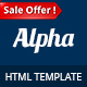 Alpha - Business Consulting and Financial Services HTML Template Nulled