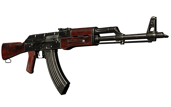 Assault Rifle AKM - 3DOcean Item for Sale
