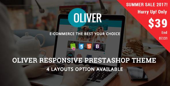 Oliver - Fashion Tshirt, Handbags Responsive Prestashop Theme