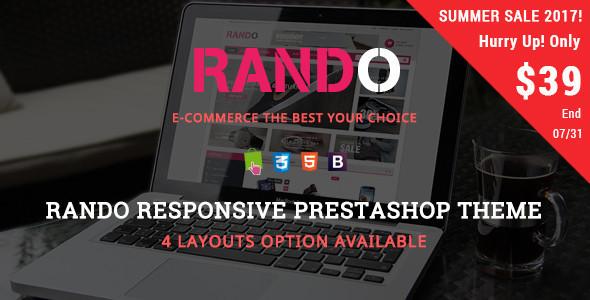 Rando - Shopping & Accessories Responsive Prestashop Theme - Fashion PrestaShop
