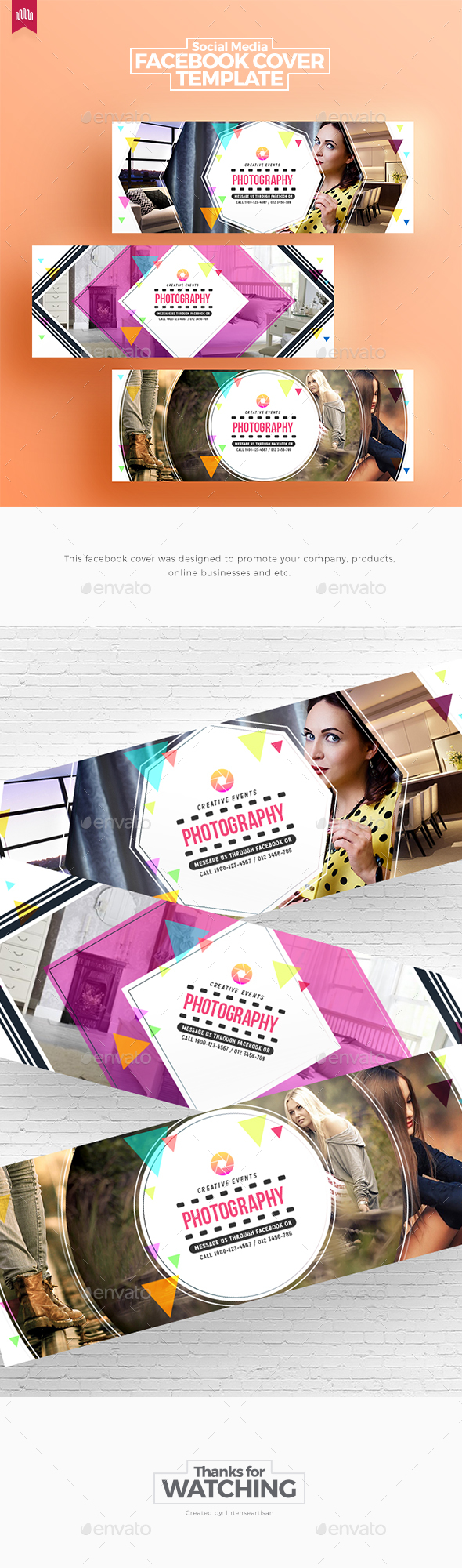 GraphicRiver Creative Facebook Timeline Covers V.2 20309435