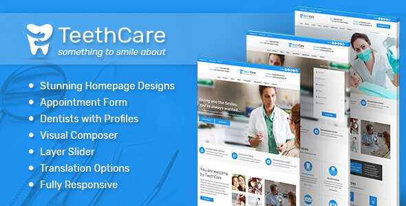 Teeth Care - Dental & Medical WordPress Theme