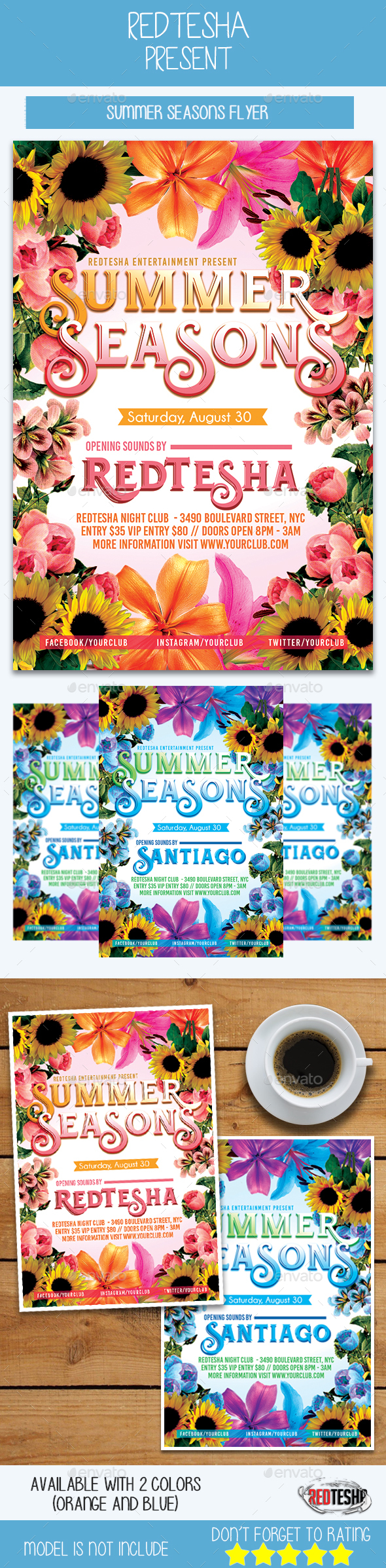 Summer Seasons - Events Flyers