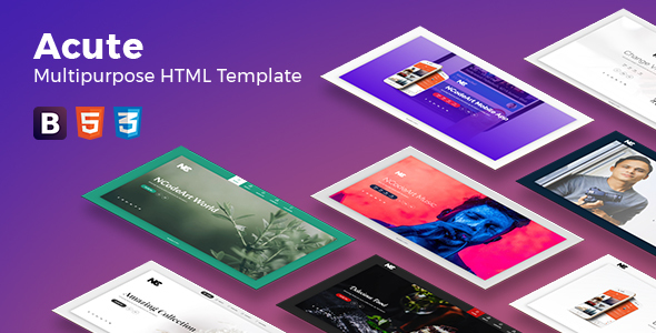 Acute Multipurpose HTML Template