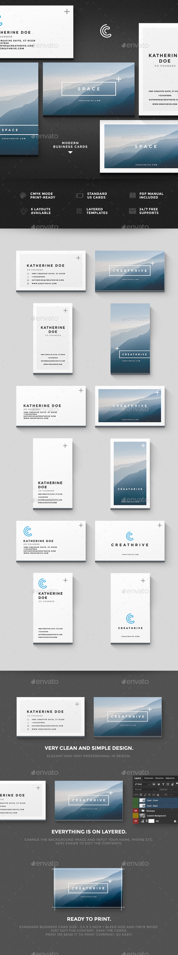 Space Cards - Business Cards Print Templates