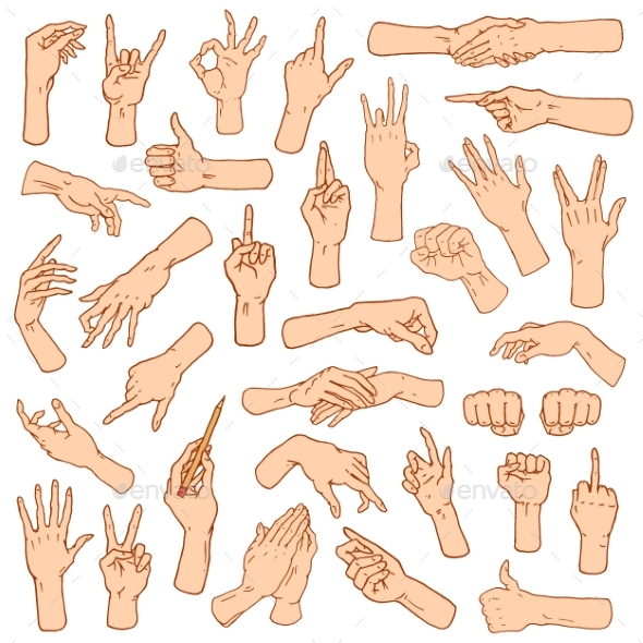 Gestures of Hands - People Characters