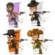 Cartoon Bank Robber with Money Character Set