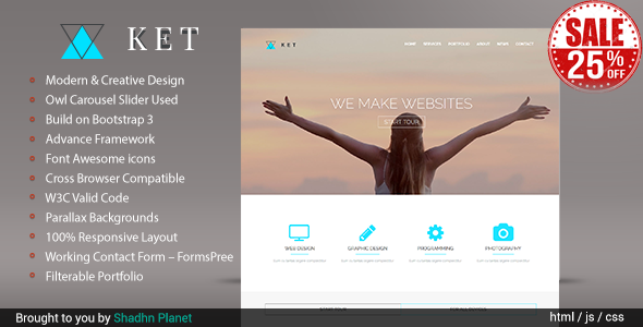 KET - One Page Html5 Responsive Template