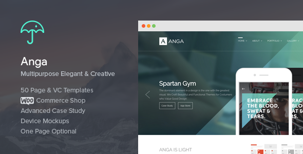 Anga - Multipurpose Elegant and Creative Theme - Creative WordPress