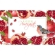 Pomegranate Bird Horizontal Banner