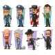 Cartoon Policeman in Uniform and Gangster Set - GraphicRiver Item for Sale