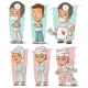 Cartoon Doctor and Patient Character Vector Set - GraphicRiver Item for Sale