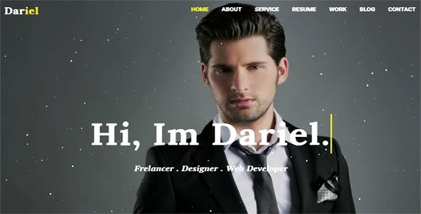 Dariel-Personal Portfolio HTML Template