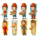 Cartoon Pizza Delivery Boy and Chef Character Set - GraphicRiver Item for Sale