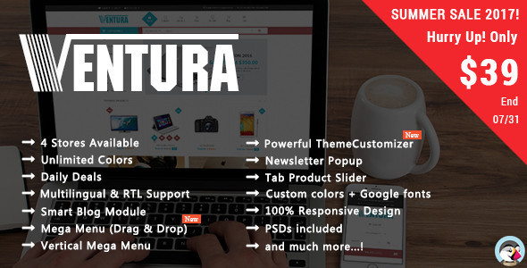 Ventura - Shopping Digital, Electronics Responsive Prestashop Theme - Shopping PrestaShop