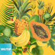 Watercolor with Summer Tropical Fruit - GraphicRiver Item for Sale