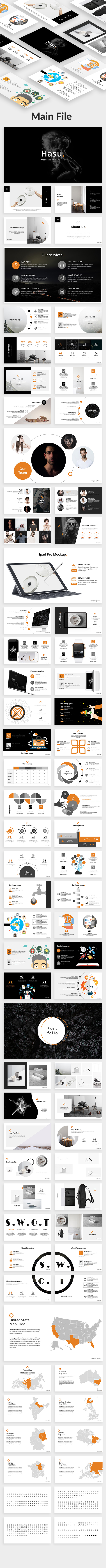 GraphicRiver Hasu Creative Powerpoint Template 20309716