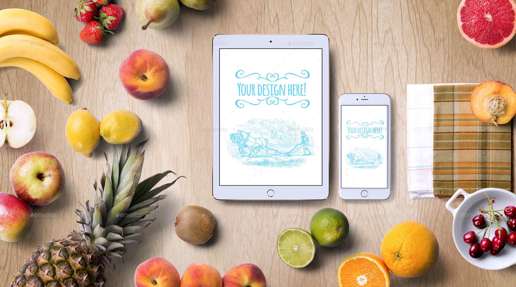 Organic Food Mockup & Hero Images Scene Generator by ...