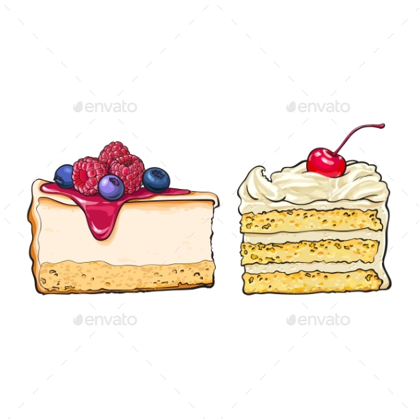 GraphicRiver Hand Drawn Desserts 20309902
