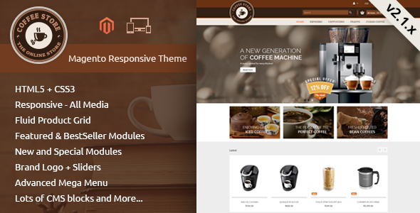 Coffee - Responsive Magento 2 Theme