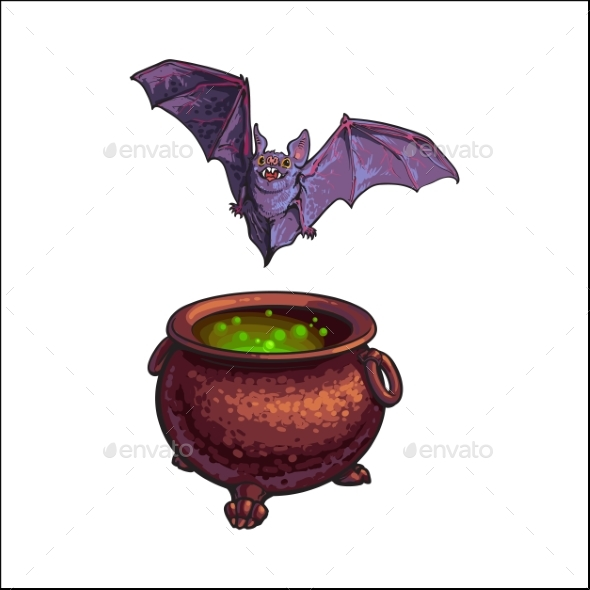 Flying Vampire Bat - Animals Characters