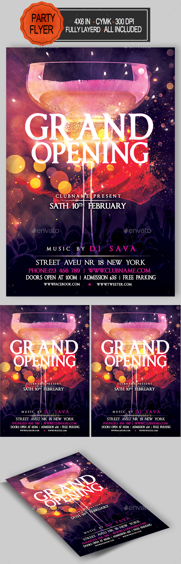 GraphicRiver Grand Opening Flyer 20305830