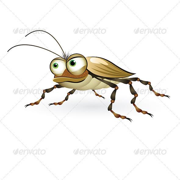 Cartoon Beetle - Animals Characters