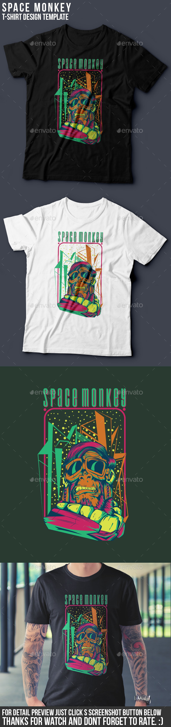 Space Monkey - Funny Designs