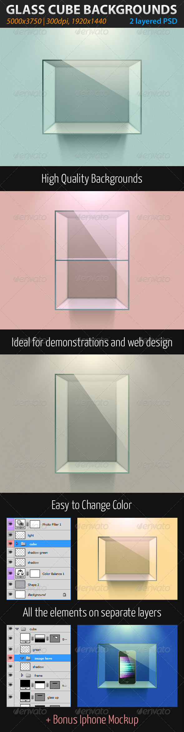 Glass Cube Backgrounds - Abstract Backgrounds