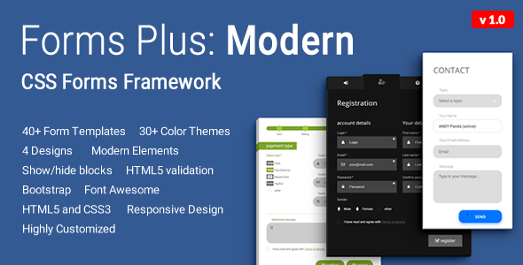 Download Forms Plus: Modern - CSS Form Framework