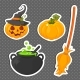 Set of Halloween Stickers - GraphicRiver Item for Sale