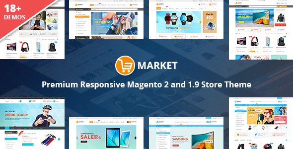 Market - Premium Responsive Magento 2 and 1.9 Store Theme - Shopping Magento